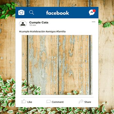 letrero facebook