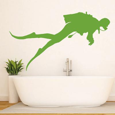 vinilos decorativos baño de buzo