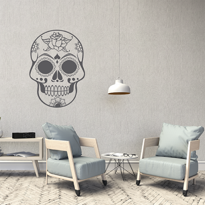 vinilo pared calavera