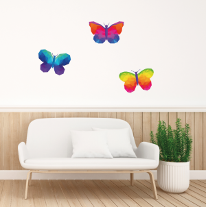 papel adhesivo decorativo Set mariposas