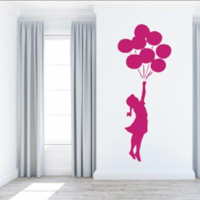 vinilos decorativos al por mayor niña globos