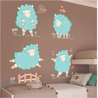 Adhesivo decorativo ovejas
