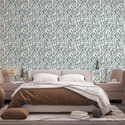 papel mural personalizado acuarela floral
