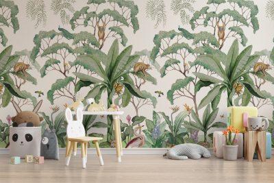 Papel Mural economico Jungle Monkey